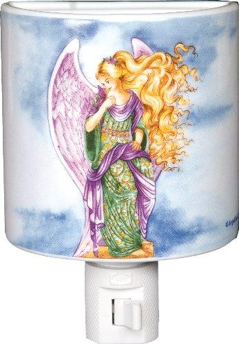 Angelstar 4-3/4-Inch Angel Porcelain Night Light, Angel Whispers
