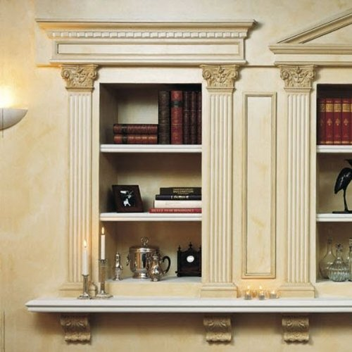 Orac Pediment Molding 48 Inch Wide by 10 Inch High for top of door, window or entry Primed White Polyurethane