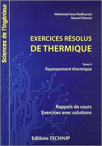 Livres Exercices résolus de thermique tome 2 pdf, epub ebook