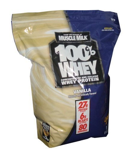 Cytosport Makers Of Muscle Milk 100  Whey Protein 27G 6Lb Bag Of Vanilla