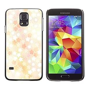 LECELL -- Funda protectora / Cubierta / Piel For Samsung Galaxy S5 SM-G900 -- Floral pattern --