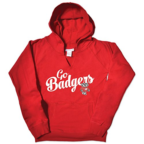 NCAA Wisconsin Badgers Girls V Neck Hoodie, Size - Wisconsin Badger Tshirts Size 10