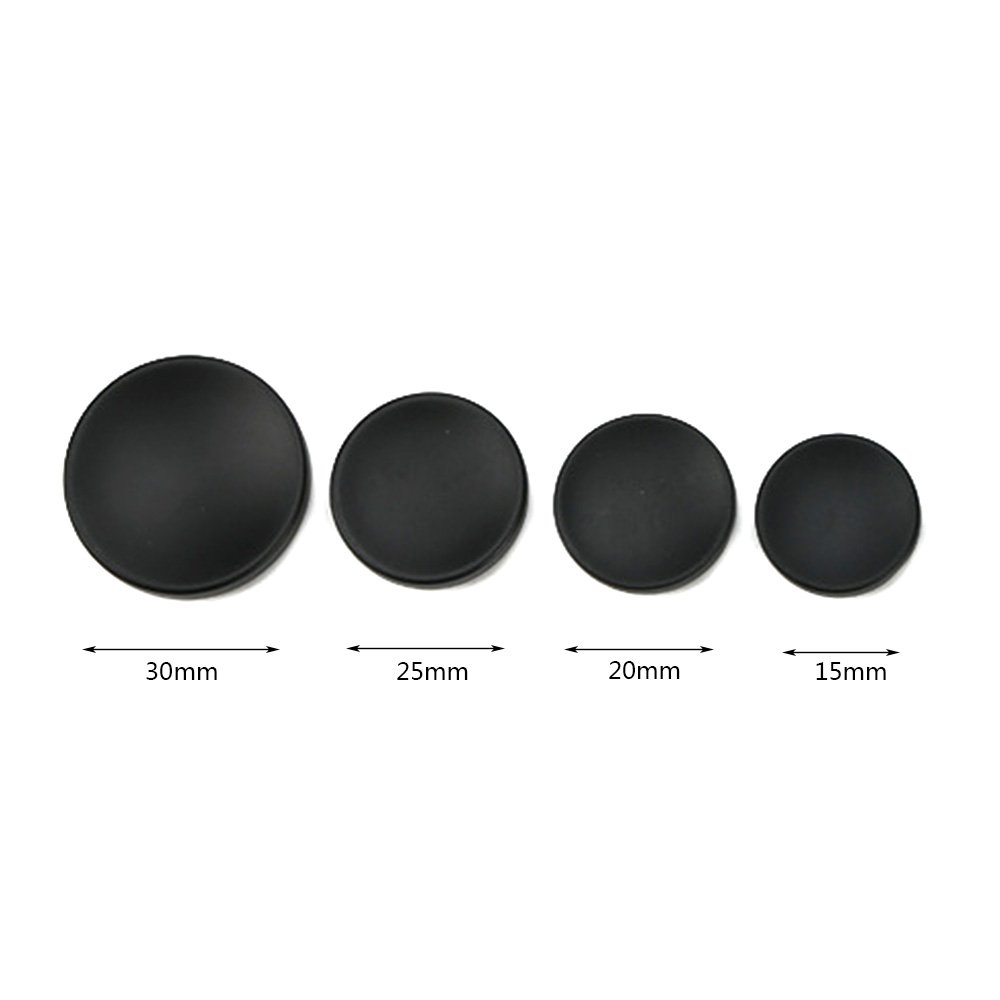 12 Pieces Sewing Buttons Round Flat Suit Buttons Fastener with Invisible Hole Buttons Black-15mm Anjing