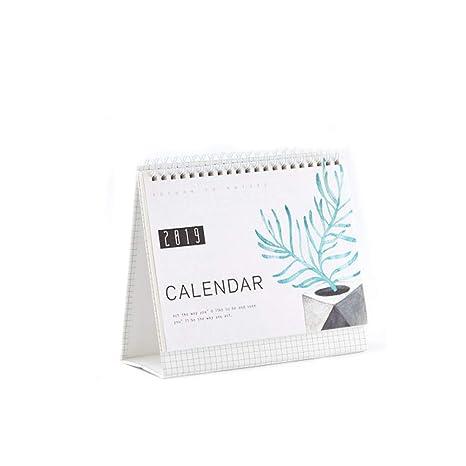 Amazon.com: Liitrton Calendario de escritorio 2018 2019 ...