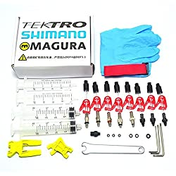 West Biking Bike Disc Brake Bleeder Kit for Shimano/TEKTRO/Louise Marta/HS33 HS11 ECHO/Magura MT2/MT4/MT6/MT8 /ZOOM/CSC/ALHONGA