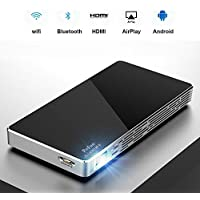 Mini Portable Projector For iPhone, Mobile Projector for Outdoor,New Pico HD Projector Supports Bluetooth TF card WiFi HDMI 1080P USB By PoFun