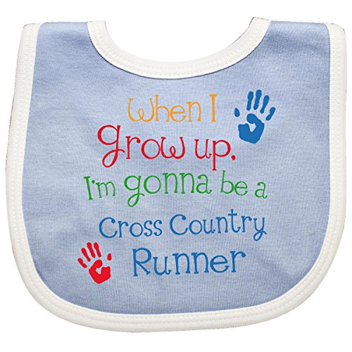Inktastic - Cross country runner Future Baby Bib Blue/White