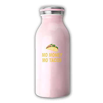 Mo dinero Mo tacos Vintage botellas de vidrio botellas de leche yogur, 12-Ounce