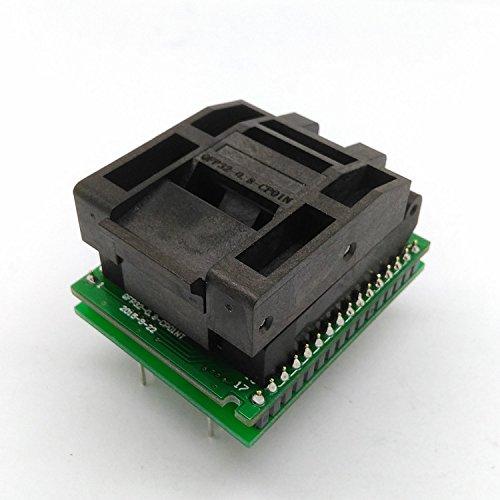 QFP32 TQFP32 LQFP32 FQFP32 MCU programming socket Clamshell Pitch 0.8mm IC Body Size 7x7mm tip to tip 9x9mm QFP Socket programming