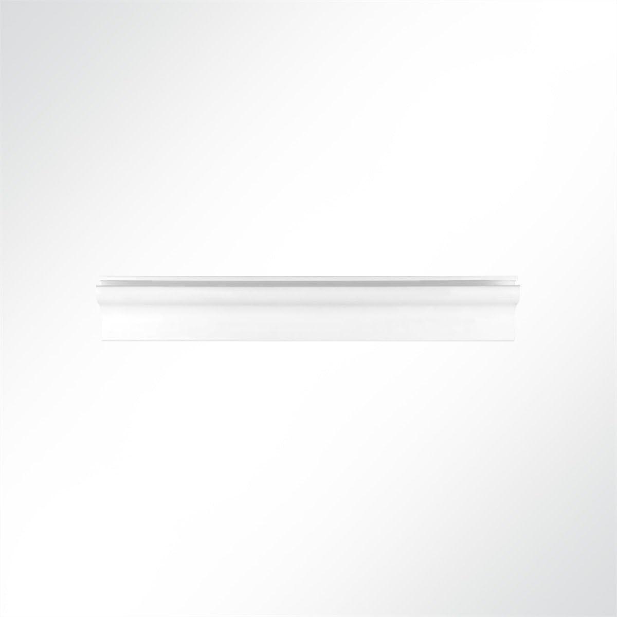 LYSEL/® Rail en plastique pour auvent Blanc 15,50 x 33,30 mm 2 m