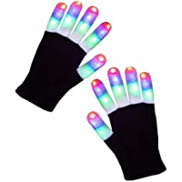 Playmate Led Gloves Light Up Rave Glow Gloves 3 Colors 6 Modes Flashing Halloween Costume Birthday EDM Party Christ-mas…