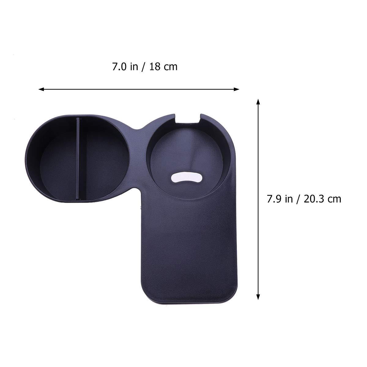 negro UPKOCH Soporte para taza de caf/é con pinza para mesa de escritorio soporte lateral para botella de caf/é soporte de abrazadera para oficina o hogar