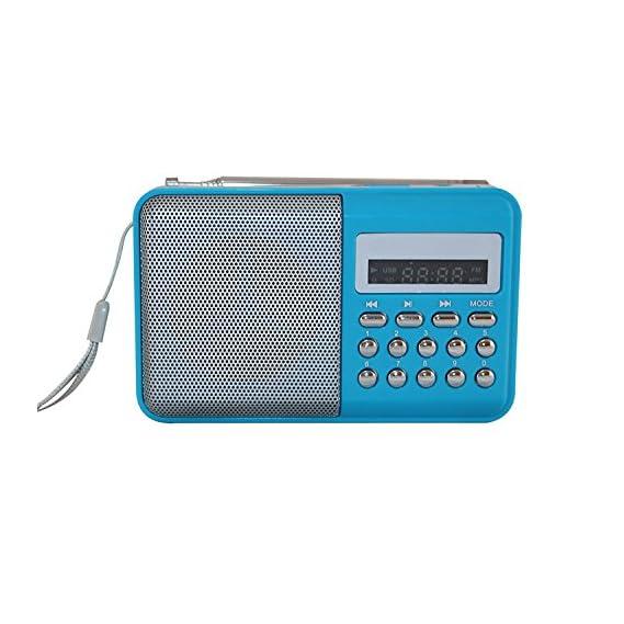 LED Display Mini Speaker Portable FM Radio Player L-SS6 (Multi Color)