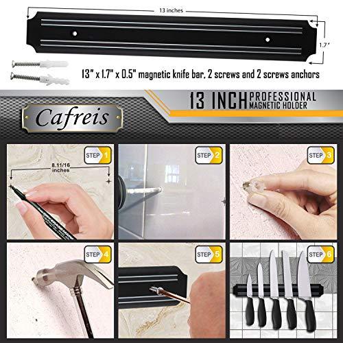 MAGNETO, 13 Inch Plastic Magnetic Knife bar, Knife Holder bar, Magnetic Storage Rack Strip, Magnetic Tool Organizer by Cafreis (Image #4)
