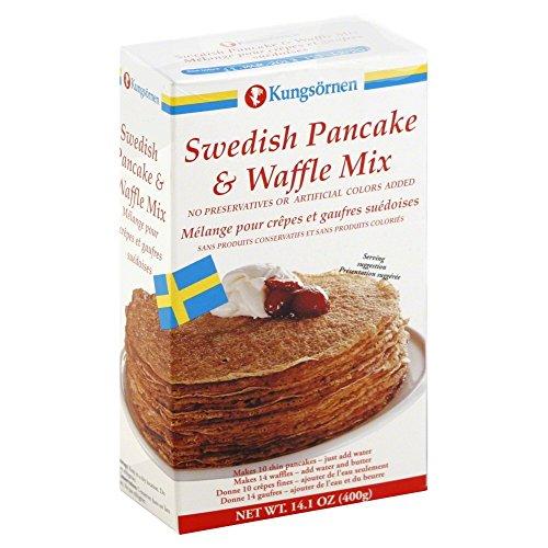 Kungsornen Swedish Pancake & Waffle Mix 14.1 oz. (Pack of 3)