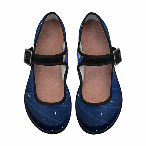 InterestPrint Womens Comfort Mary Jane Flats Casual Walking Shoes Multi 10 8lkuq