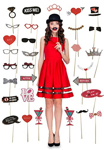 Price comparison product image Girls Night Out - Bachelorette Party Fun Photo Booth Props - 30 Count - NO ASSEMBLY REQUIRED