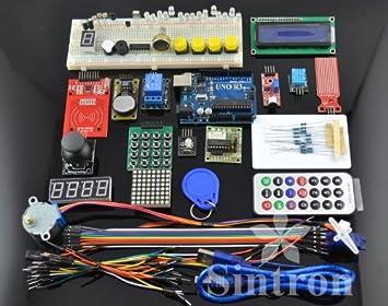 [Sintron] Maste RFID Kit de Motor Servo, LCD, Varios Sensores para Arduino IDE AVR MCU Alumno: Amazon.es: Electrónica