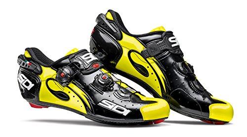 Sidi Wire Carbon Raceschoenen Zwart / Geel Fluo