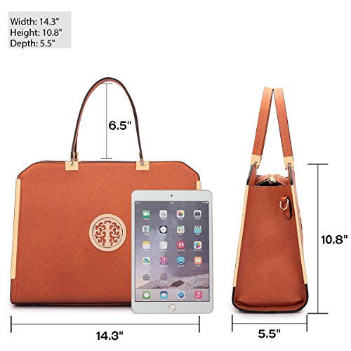 "82cc0e3be1f Women Large Designer Handbags Satchel Purses Structured Briefcase Shoulder  Bags Work Bags for 13"" Laptop"