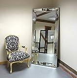 Triple Bevelled Frame Large Leaner Venetian Mirror 5ft5 x 2ft7 165cm X 78cm by Barcelona Trading