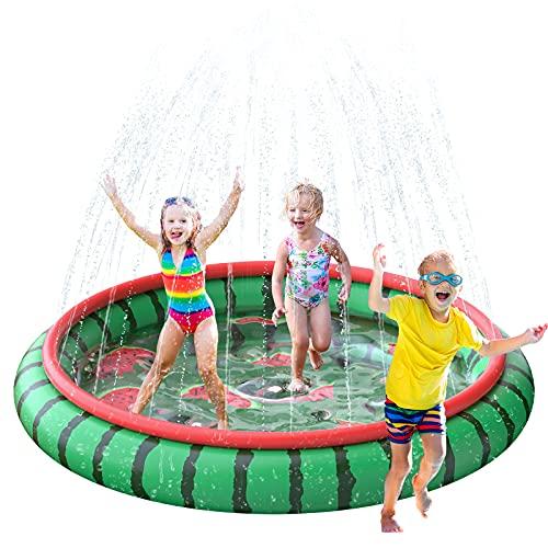 SUSENGO Splash Pad Sprinkler Mat for Kids, Large Size 74.8