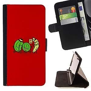 Momo Phone Case / Flip Funda de Cuero Case Cover - Watermelon & Banana Doctor - Funny - Samsung Galaxy Core Prime