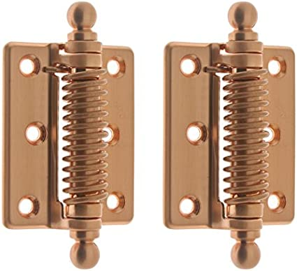 Oil-Rubbed Bronze idh by St Pair Simons 80360-10B Professional Grade Quality Solid Brass Heavy Duty Spring Screen Door Hinges with Ball Finials