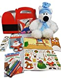 Christmas Gift Basket-Polar Bear Plush-Polar Bear Toy-Gift Set Unique Polar Bear Kit Craft