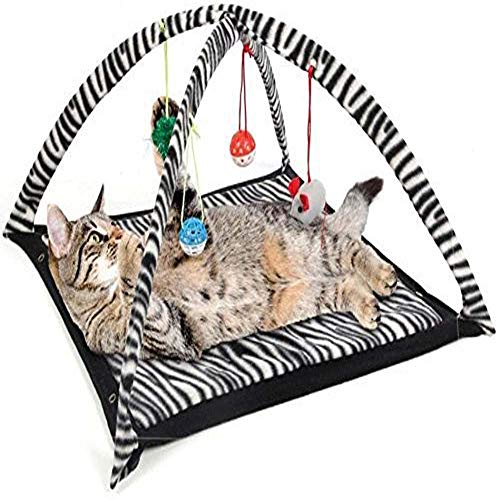 YSY Zebra Striped Cat Tent Zebra Pet Cat Tent Cat Bed Cat Bed Amusement Park Foldable Multifunctional Cat Hammock
