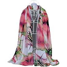 Bestpriceam Women's Chiffon Scarf Large Long Wrap Shawl Scarves (Pink)