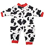 16 Inches Bitty Baby Doll's Clothes, Black and White Dairy Cows by AOFUL