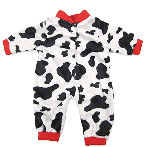 [16 Inches Bitty Baby Doll's Clothes, Black and White Dairy Cows by AOFUL] (Doll Halloween Outfit)