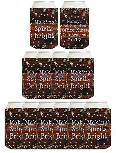 Custom Christmas Can Coolies Your Text Christmas Birthday Party Supplies Christmas Decorations Party 12 Pack Can Coolie Drink Coolers Coolies Christmas - Personalized Drink Coolers