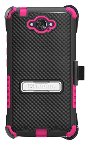Beyond Cell Phone Case for Motorola Droid Turbo XT1254 - Non-Retail Packaging - Black/Hot Pink