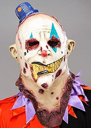 Máscara de payaso asesino Deluxe Zombie para hombre