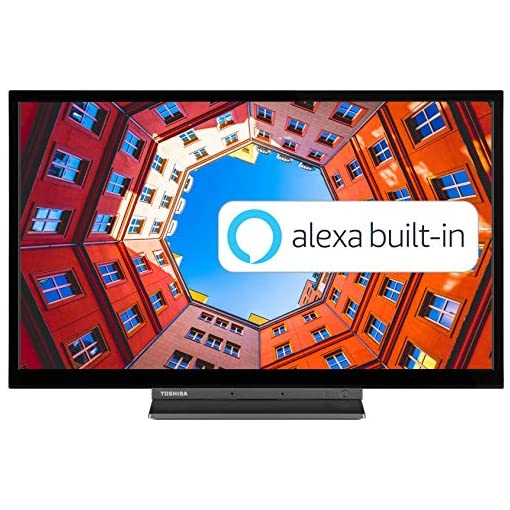 Toshiba 24WK3A63DB 24-Inch HD Ready Smart TV with Freeview Play, Alexa Built-in (2020 Model)