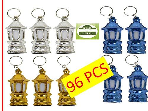 Ramadan Toy Lantern-Fanoos 24-96 Happy Ramadan Kareem Decoration Novelty فانوس- Arabic Moroccan Egyptian Lantern رمضان مبارك Ramadan Mubarak Key Ring-Holy☪ Ramadan Gift (96)