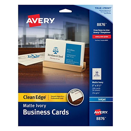 avery business cards clean edge - 4