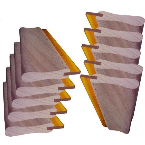 10 pcs Silk Screen Printing Squeegee 18'' (46cm) Scratch Board Wooden Ink Scraper by Screen Printing Consumables