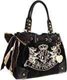 Juicy Couture Scottie Embroidery Daydreamer Tote Bag (Black), Bags Central