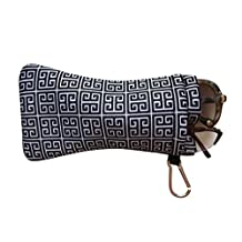 Double Eyeglass Pouch :: Sporty Style with Clip :: Soft and Slim Case by buti-bag