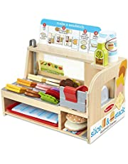 Melissa and Doug Slice & Stack Sandwich Counter Play Set, Multicolor