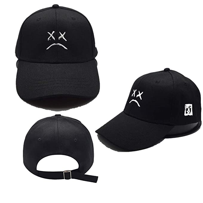 adac7874a84 Image Unavailable. Image not available for. Color  Sad face Dad Hat  Embroidery Baseball Hat