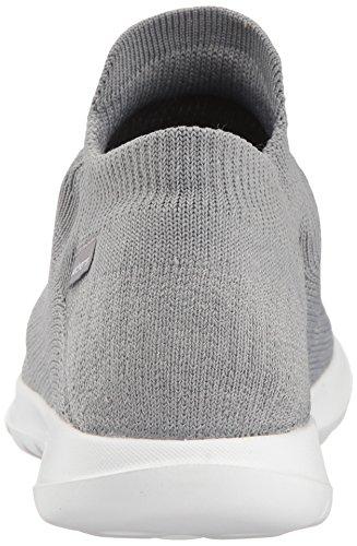 Grey Skechers sin Walk Zapatillas Lite Gris Mujer Go Cordones para zzqrPSw