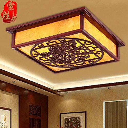 JJ Moderne LED Deckenleuchte Real wood carving verbringen ...