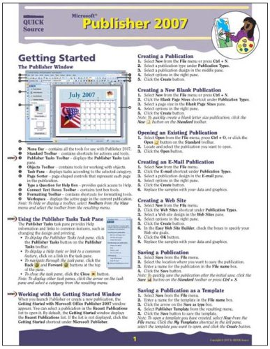 Microsoft Publisher Quick Source Reference product image