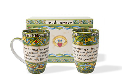 Irish Blessing Cup Set of Two with Matching Irish Gift Box