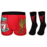 Liverpool FC Official Gift Set Boys Socks & Boxer Shorts Black