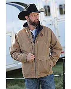 7. Cinch Men's Canvas Jacket with Concealed Carry Pockets